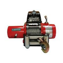 Trekkvinsj 4309Kg 12V Thor Winch T-SD9500 Short Drum, med wire: Ø9,2mm x 14m, smal type, 3-pol