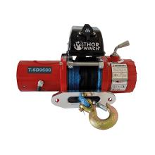 Trekkvinsj 4309Kg 12V Thor Winch T-SD9500 Short Drum,syntetisk tau: Ø9,2mm x 14m, SMAL type, 3-pol