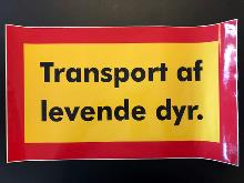 Transport av levende dyr streamer 300x500mm